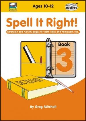 RENZ1095 Spell It Right Book 3cov