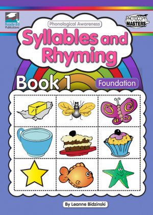 Phonological Awareness Bk 1-Syllables and Rhyming Cover